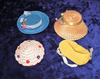 Lot of  4 Doll Hats