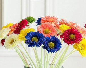 5 pcs 3.93'' PU Chrysanthemum Flowers,Artificial Chrysanthemum For Wedding Arrangement,Flower Supplies for centerpiece(165-58)