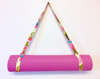 Yoga Mat Strap, Yoga Mat Sling, Exercise Mat Strap, Pilates Mat Carrier by 8th Day Encore