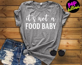 Pregnancy Announcement Shirt. Pregnancy Announcement to Husband. Pregnant Shirt. Maternity Shirt. Announcement Idea Food Baby Shirt Preggers