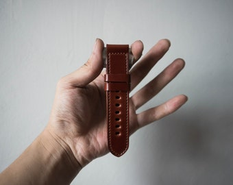Shell Cordovan 18mm 20mm 22mm 24mm  Panerai Watch Strap - Burgundy