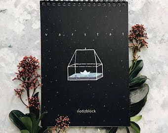A5 Notepad with illustrated cover