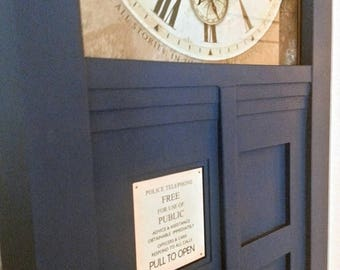 ON SALE NOW Tardis Inspired Wall Clock