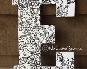 Wood Letter E Doorhanger