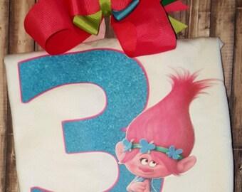 Poppy Troll birthday shirt, poppy troll shirt, poppy birthday, poppy troll, troll shirts, birthday shirt, birthday gift, poppy shirt