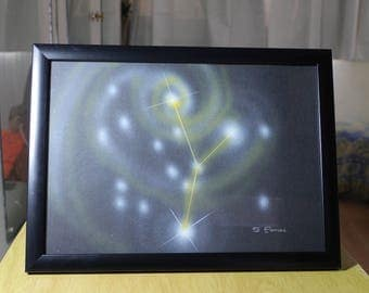 CANCER (3) | Astrological Constellation | Painting | Astrology | Astrological Art | Painting | Planets | Occult | Astronomy