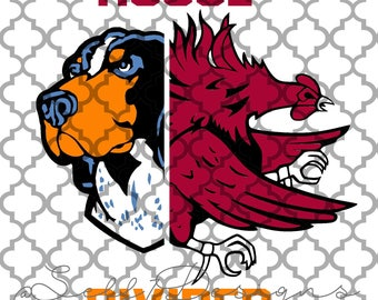 House Divided Volunteers vs Gamecocks svg png dxf