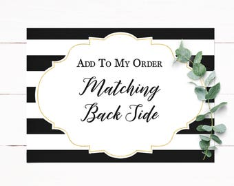 Add On Matching Back Side to Your Invitation