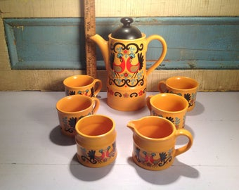 Vintage tea set Sadler england yellow