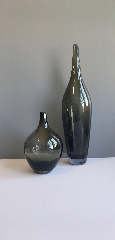 Vintage modern smoke glass vases pair of mid century modern vintage modern smoke glass vases pair of mid century modern smokey glass vases modern reviewsmspy