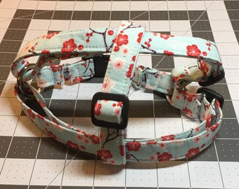 Ready to Ship Blue with Red Flower Step in Harness