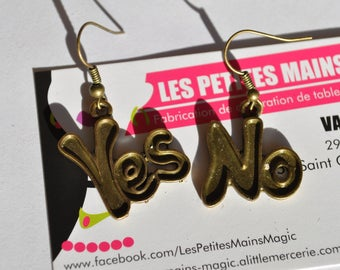 """earring asymmetric """"yes, no"""" answer has everything"""