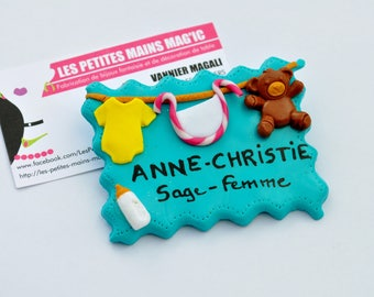 nursery Assistant or wise woman customizable model hospital badge