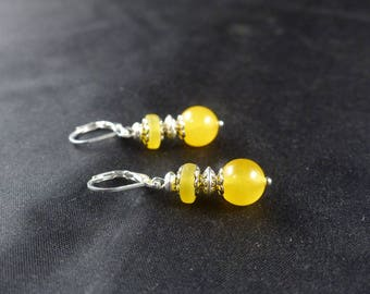 Bohemian earrings ~, ~ turmeric stones ~ ~
