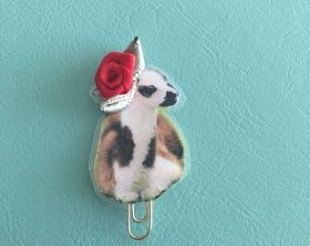 Llama paperclip. Llama clip. Planner clip. Handmade paper clip. Llama planner clip. Paperclip.