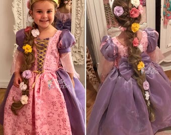 Tangled Rapunzel dress for Birthday costume or Photo shoot Tangled dress outfit Birthday dress costume Princess dress for Birthday party