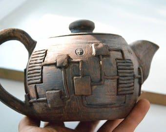 Stoneware teapot, Pottery teapot, clay teapot, Steampunk teapot,Stoneware tea pot, Ceramic Tea Maker, Pottery Kettle