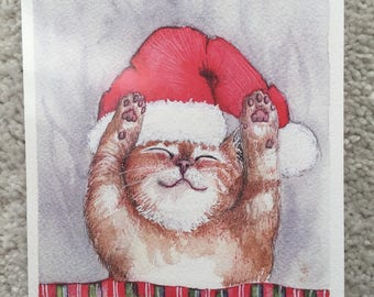 Snuggly Kitten Holiday Cards Set of 3