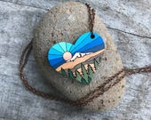Wooden Heart Necklace - Sunshine Mountain