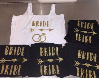 BRIDE TRIBE /bride glitter gorgeous hot fix  hen party iron on transfer DIY