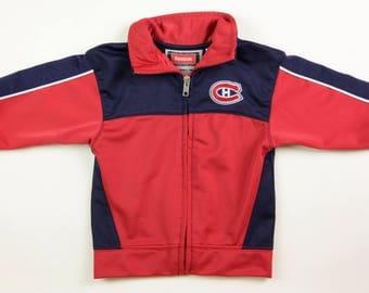 Reebok Montreal Canadiens Zip Up Jacket, Size 18 Months