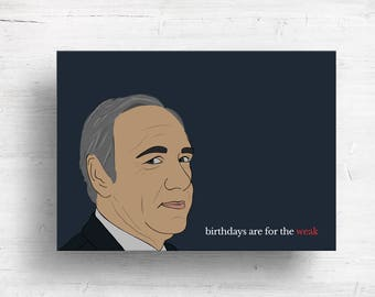 House of Cards Birthday Card - Frank Underwood Birthday Card