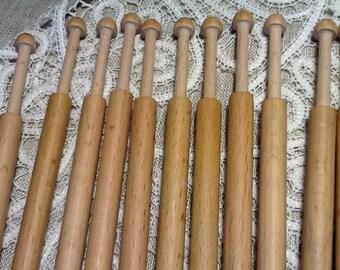 Tapestry bobbins Lace Beechen Wooden bobbins Eco material Natural Tool to bobin lace 16pcs