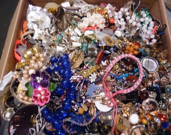 Broken Jewelry Lot Mixed Jewelry for Crafts, jewelry making 27+ Lbs Bulk Jewelry