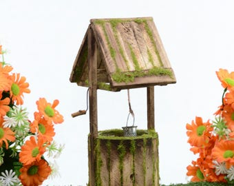 Wooden Wishing Well Fairy Garden Accessory