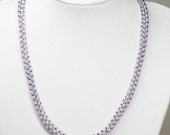 Lilac russian spiral necklace