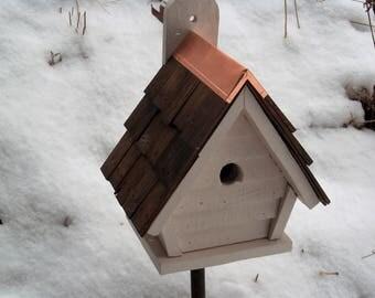 Charming Chickadee A-Frame Birdhouse