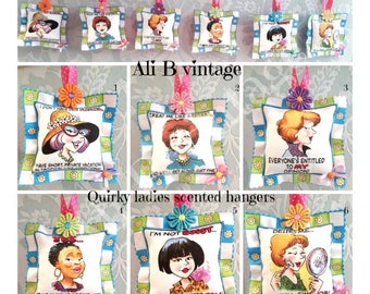scented sachets quirky ladies scented hangers drawer scents perfumed hangers floral scent funny ladies friend gift