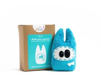 """DIY sewing kit """"make your monster"""" - DIY plush monster kit - diy craft kits - monster sewing pattern -"""