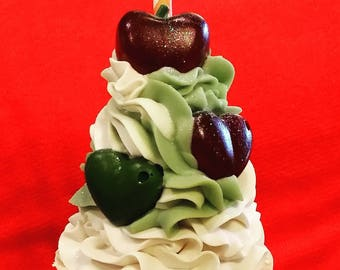 "Ice Cream Cone Soap ""Apple of my Eye"""