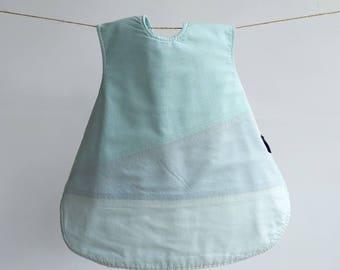 The Vinklar Bib Apron , Vancouver , Yaletown,blue , grey , baby blue ,  baby shower gift, baby bib, bib, apron, skagfa
