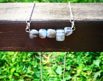 Transformation Necklace, Labradorite, Stone of Change, Aura, Minimal Necklace, Chic Style, Gypsy