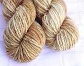 Estate Jewelry - Bulky Hand Dyed Gold Yarn - Single Ply Super Chunky Yarn -Hand Dyed Knitting Yarn -Arm Knitting -Super Bulky Superwash Yarn