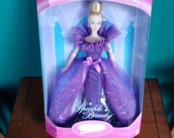 Mattel Sparkle Beauty Limited Edition Barbie Doll Barbie Doll Purple Gown