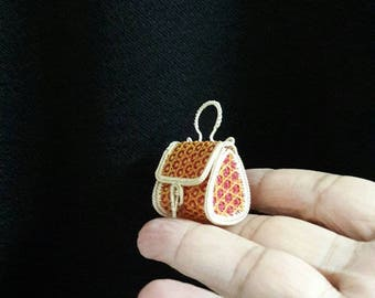 Tiny wicker basket used to made of bamboo and rattan, product from Bangkok Thailand