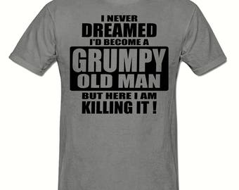Grumpy old man killing it t shirt,men's t shirt sizes small- 2xl, Funny t shirt