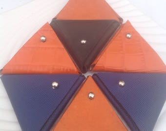 Leather Triangle Change Holder - your choice of colors
