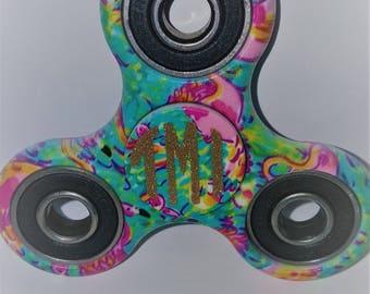 Monogrammed Lilly print fidget spinner