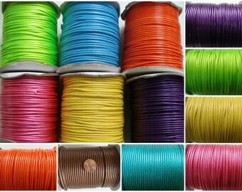 FIL 2,3mm mélange coton polyester par 2 mètres cordon couleur au choix