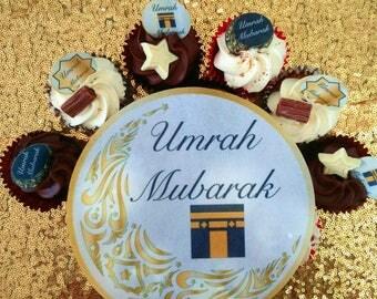Umrah Mubarak Cake Topper / Umrah Gifts / Umrah Present / Umrah Cake / Umrah Mubarak