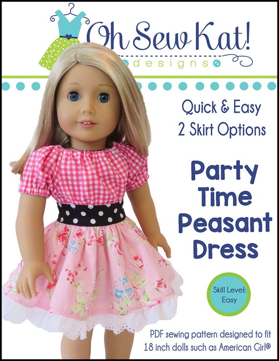 Party Time Doll Clothes Pattern