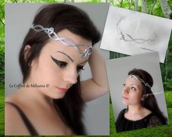 "Silver tiara ""Gaélia"" medieval Crown tiara"