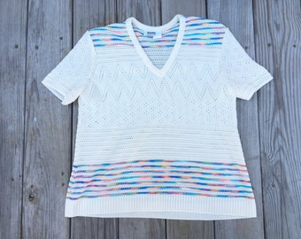 Montgomery Ward Rainbow Top White