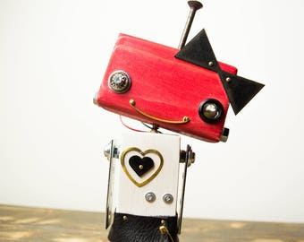 Robot skirt toy courtesy light with bow