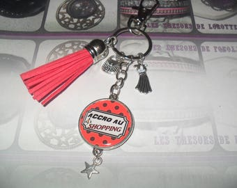 * SHOPPING ADDICT * door keys or jewelry bag personalized