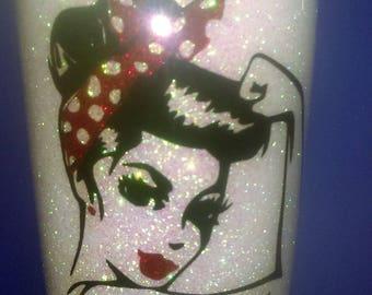 Glitter Stainless Steel Tumbler,Hand Glittered Ozark Tumbler,Personalized Glitter Tumbler, Glitter Tumbler,Over 75 Colors of Glitter